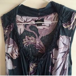 Anthropologie Deletta babydoll blouse knotted